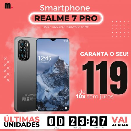 Smartphone Realme 7 Pro 16GB + 512GB 4500mAh 64MP